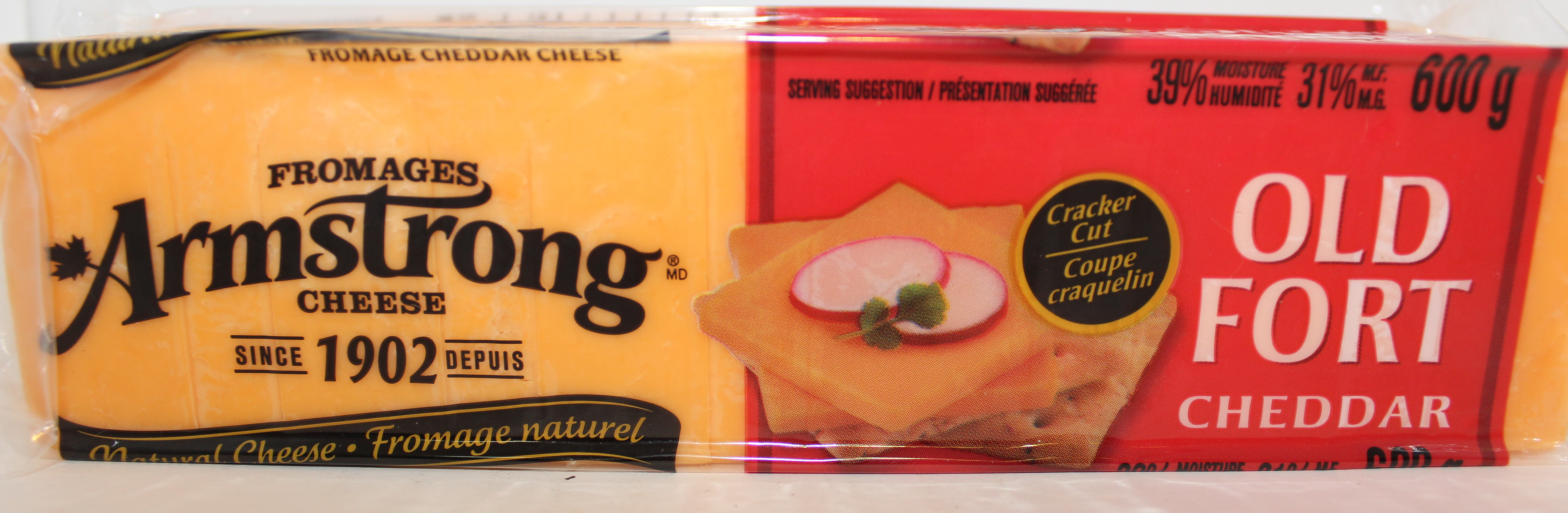 CHEESE ARMSTRONG AGED CHEDDAR ORANGE 600G