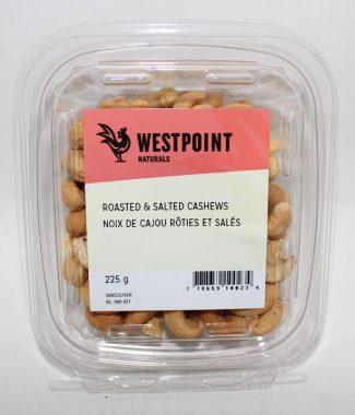 NUTS CASHEW ROASTED SALTED WESTPOINT 225GTUB
