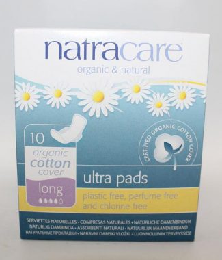 PADS NATRA ULTRA THIN LONG W/WINGS 10EACH