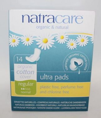 PAD NATRACARE ULTRA THIN REGULAR W/WINGS 14 EACH