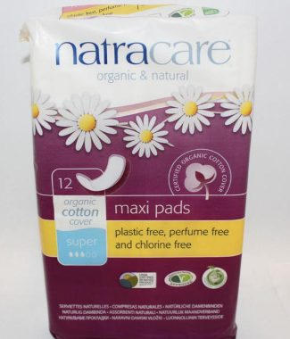 PADS NATRACARE SUPER 12 EACH